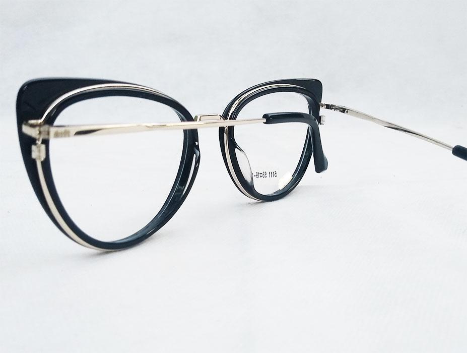 Armação de óculos de grau Gatinho Acetato e Metal 6143 Stella