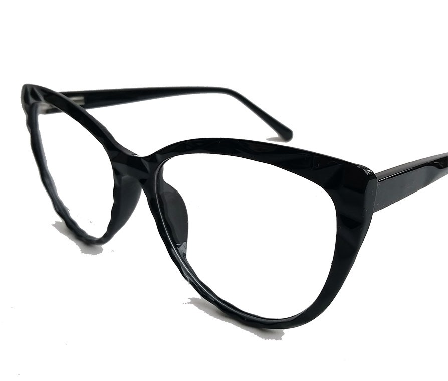 Armação de Óculos de grau Gatinho Feminino Mosaico Lapidado 3D Black 5027