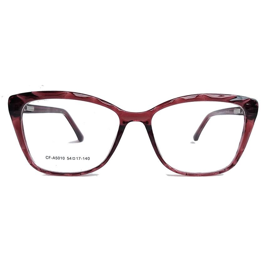 Armação de Óculos de grau Gatinho Feminino Mosaico Lapidado 3D Bordo 5010