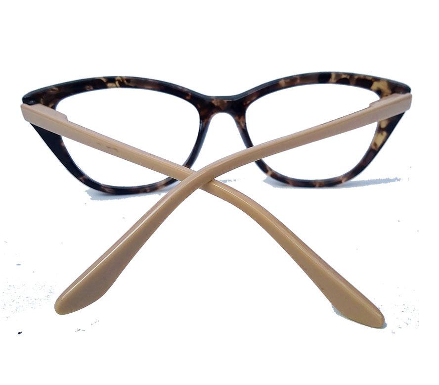 Armação De Óculos De Grau Gatinho retro Varnish Tartaruga Nude 1265