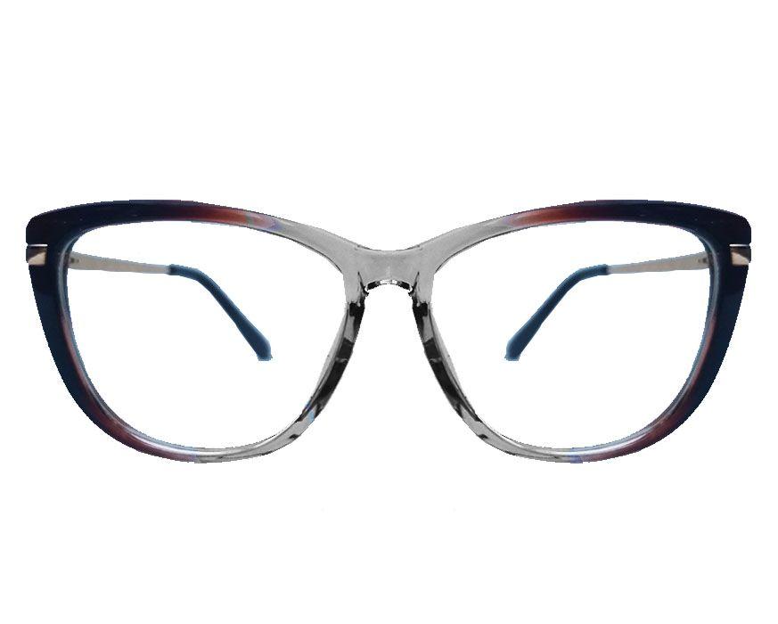 Armação de oculos de grau Gatinho Transparente Degrade Borboleta  AL9813