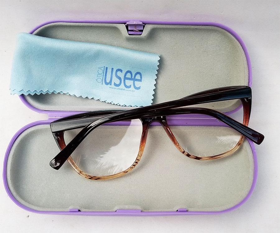 Armação De Óculos De Grau Gatinho Varnish Degrade 1261 Stella