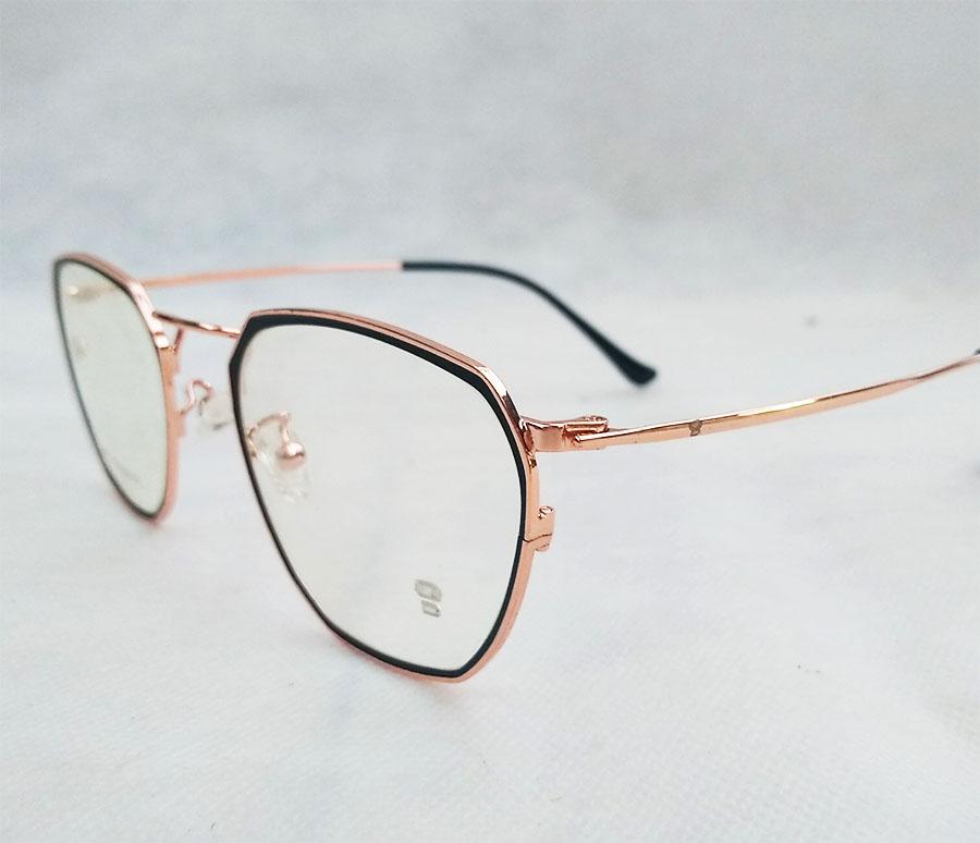 Armação de óculos de grau Geométrico Hexagonal Metal 4073 Sanremo