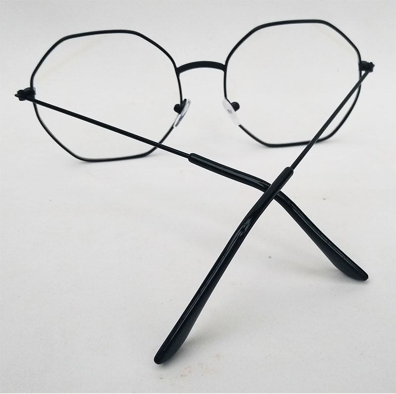 Armação de oculos de grau Hexagonal Metal Roud Steel Geométrico 949