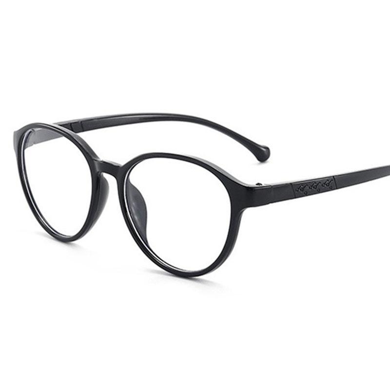 Armação de Óculos de Grau Infantil Redondo Preto Flex Grilamid