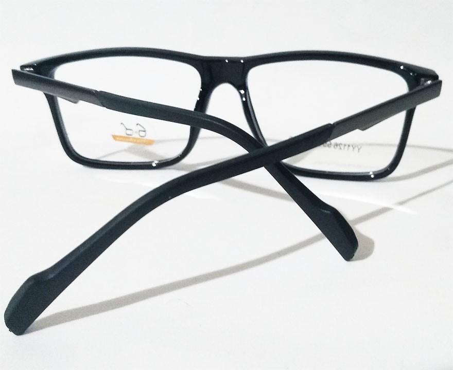 Armação de oculos de grau Masculino Quadrado Black 1126 Sport