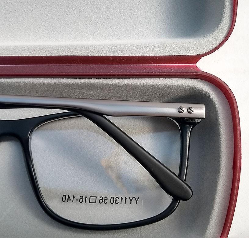 Armação de oculos de grau Masculino Quadrado Black 1130 Sport