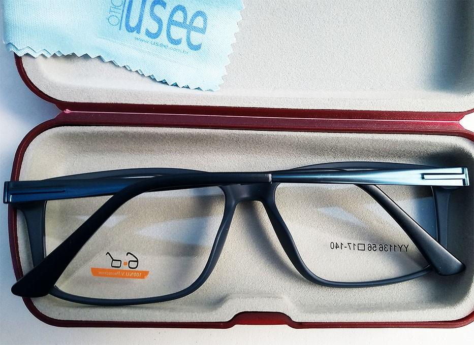Armação de oculos de grau Masculino Quadrado Black 1136 Sport Marinho