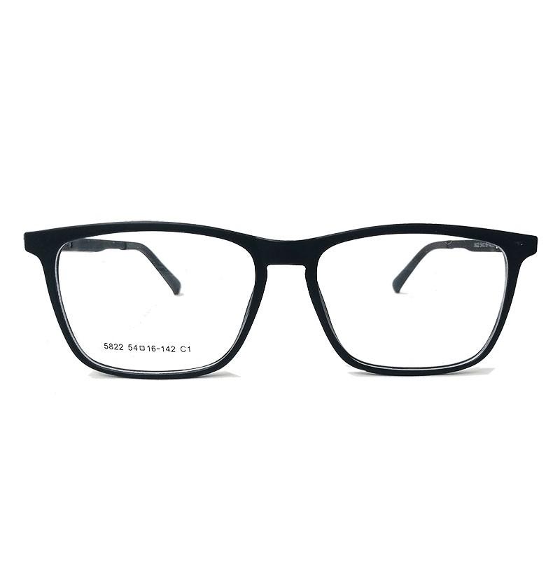 Armação de oculos de grau Masculino Quadrado Black 5822 Sport Confort