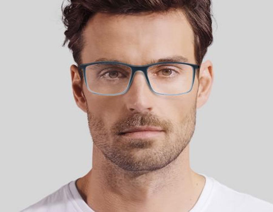 Armação de óculos de grau Masculino SWP 818 Quadrado Grilamid Matte Degrade Blu