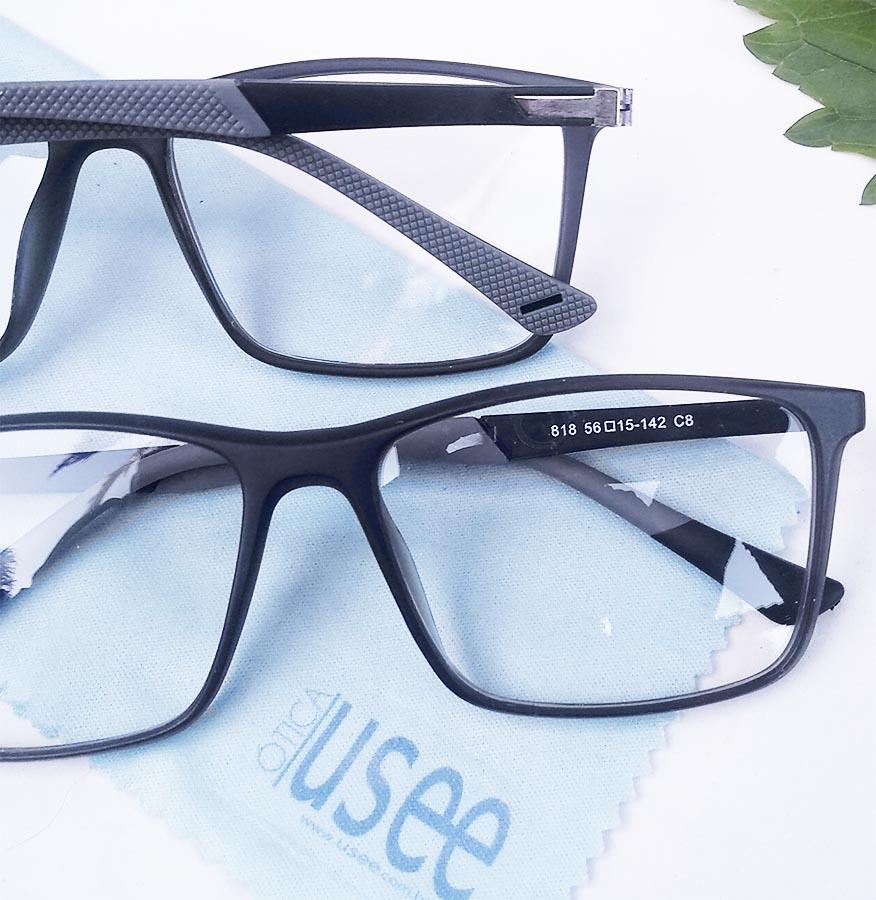 Armação de oculos de grau Masculino SWP 818 Quadrado Grilamid Matte Grey