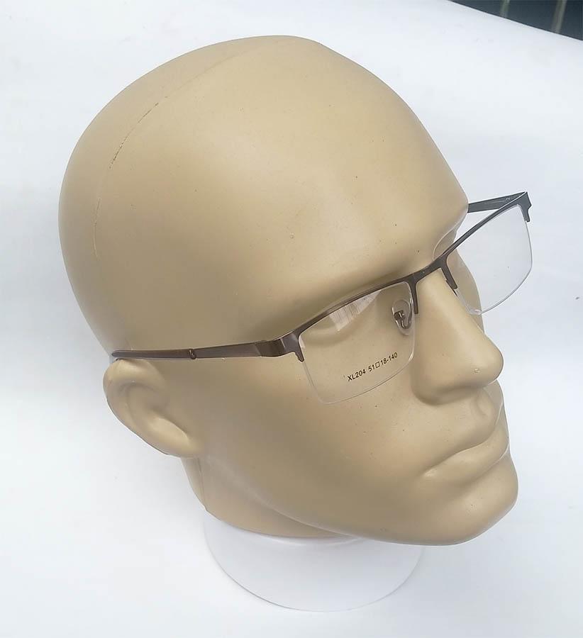 Armação de oculos de grau Metal Fio de Nylon Discreta Confortável Brown Cartago