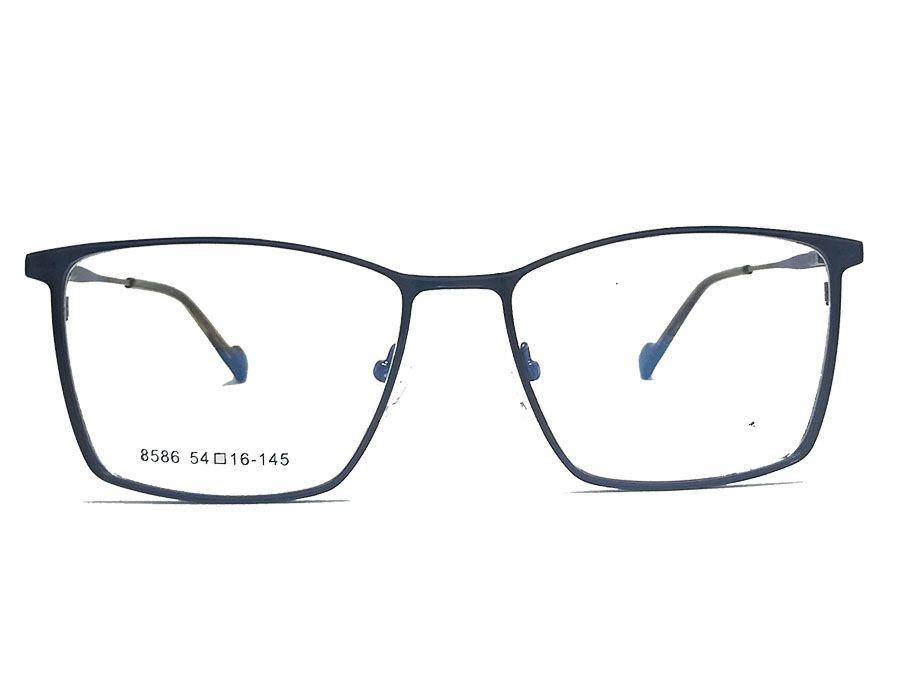 Armação de Oculos de Grau Metal Retangular 2242 Brown Light Formal