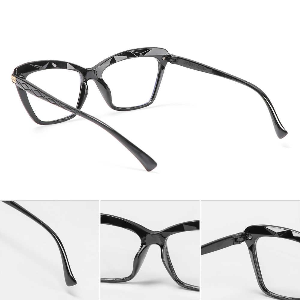 Armação de óculos de grau Mosaico Lapidado Preto Retangular c/ lentes Anti Blue
