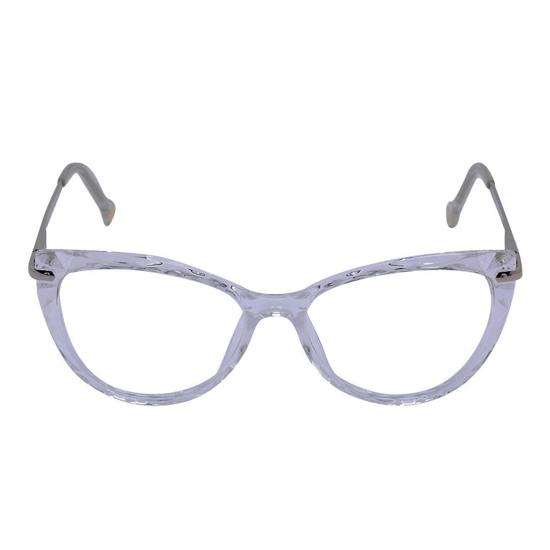 Armação de óculos de grau Mosaico Lapidado transparente Gatinho 5596 Jade