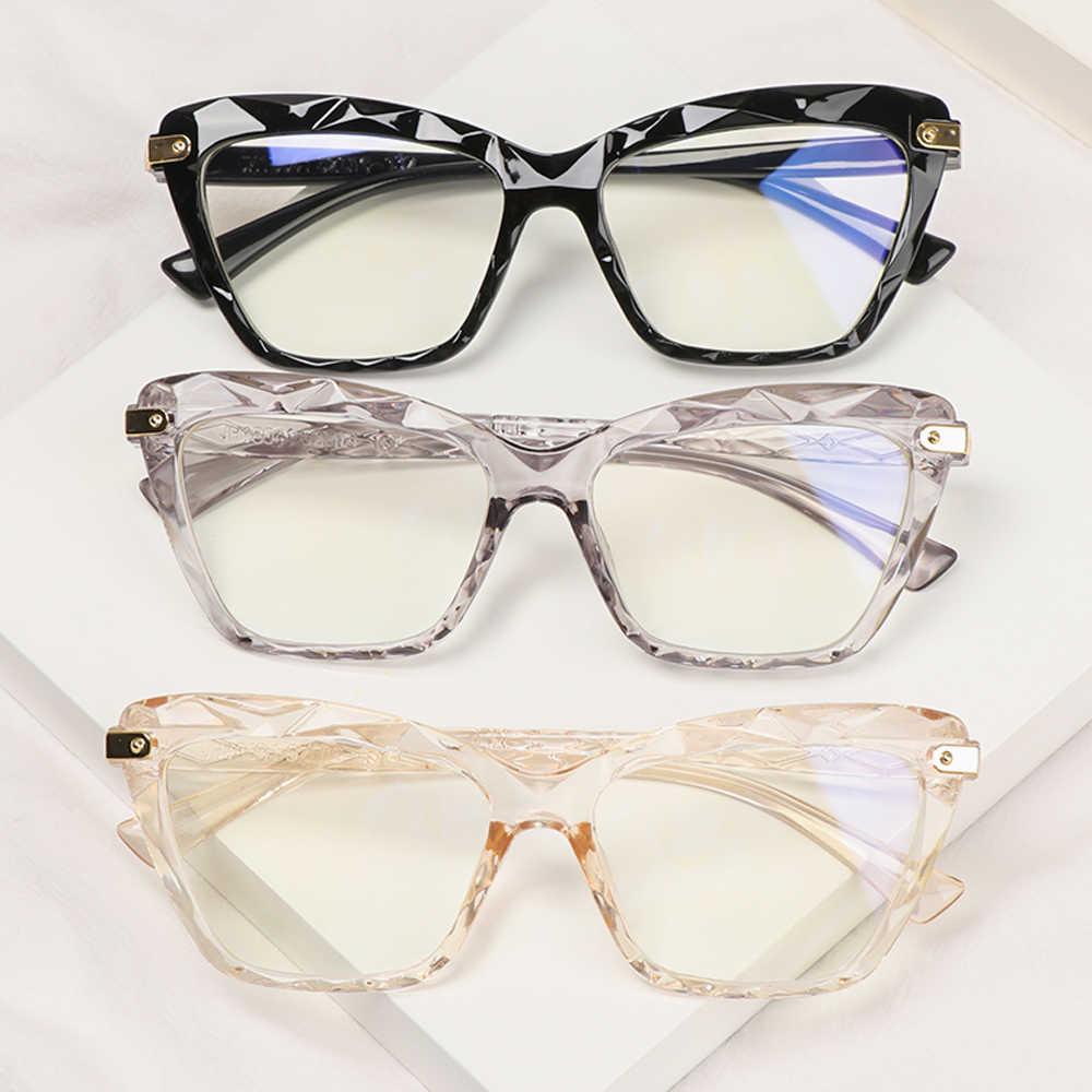 Armação de óculos de grau Mosaico Lapidado Transparente lilas c/ lentes Anti Blue