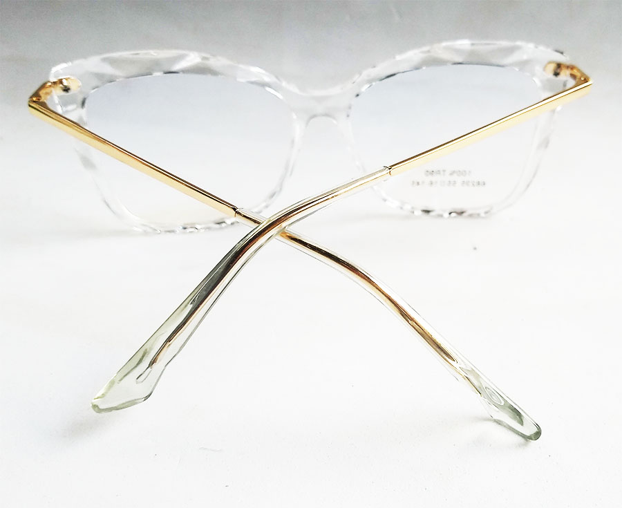 Armação de óculos de grau Mosaico Lapidado transparente Quadrado Grande 68235 Megan