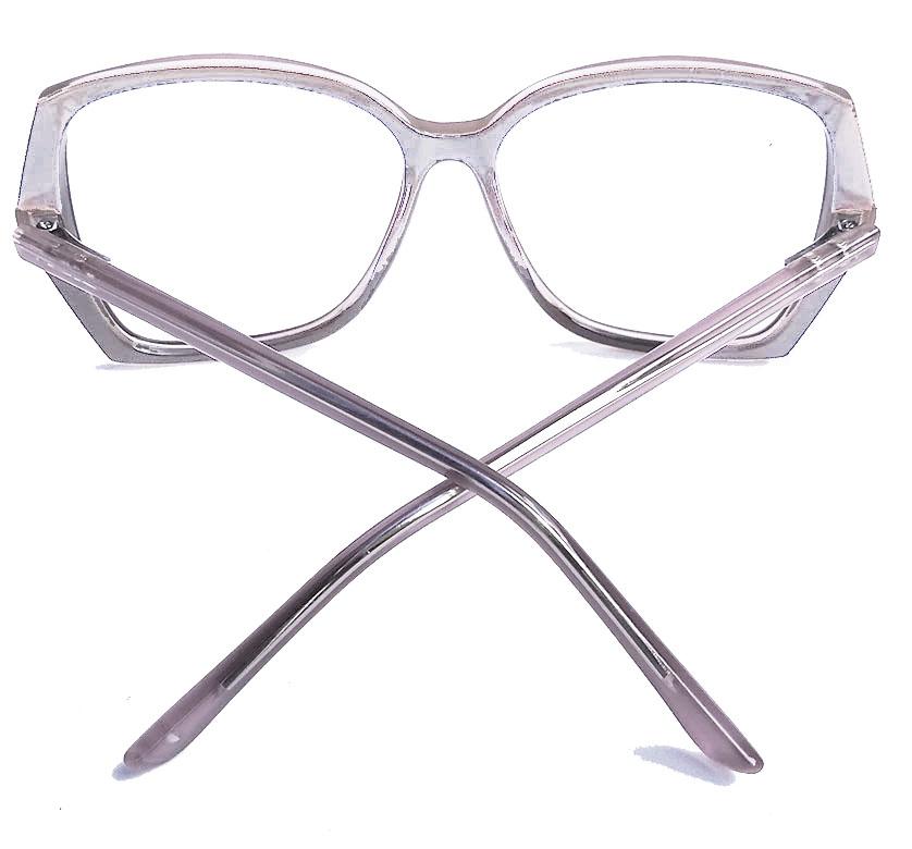 Armação De Óculos De Grau Quadrado Grande New Square Rebeca Nude
