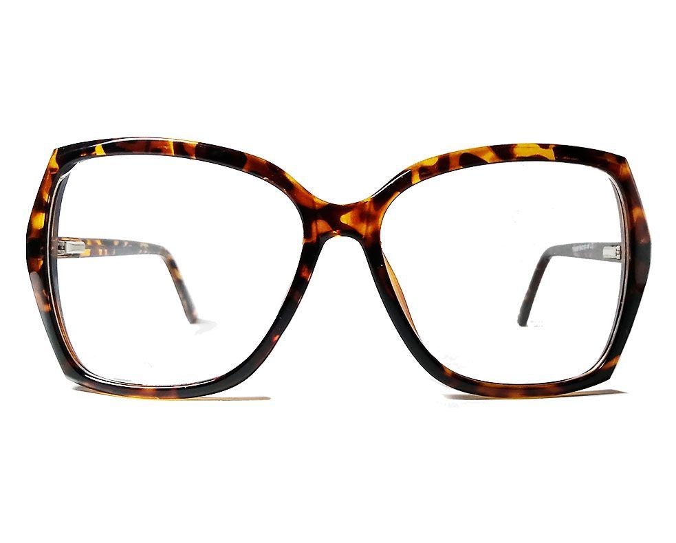 Armação de oculos de grau Quadrado grande Tartaruga Square Rebeca