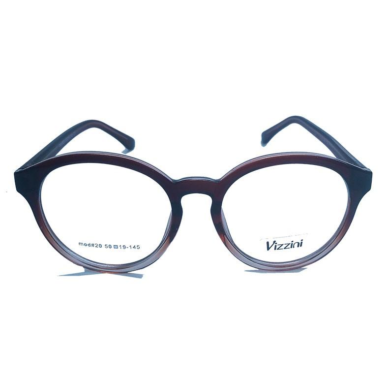 Armação de oculos de grau Redondo Degrade Gradient Marrom Vizzini