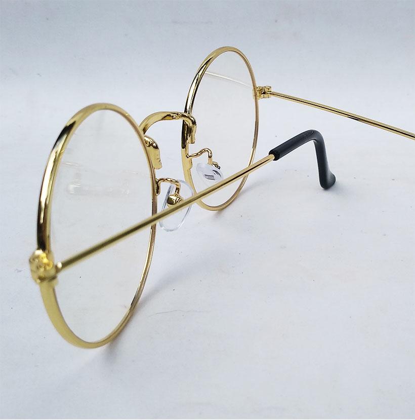Armação de Óculos de Grau Redondo Juliette Retro Vintage Metal Dourado Steel