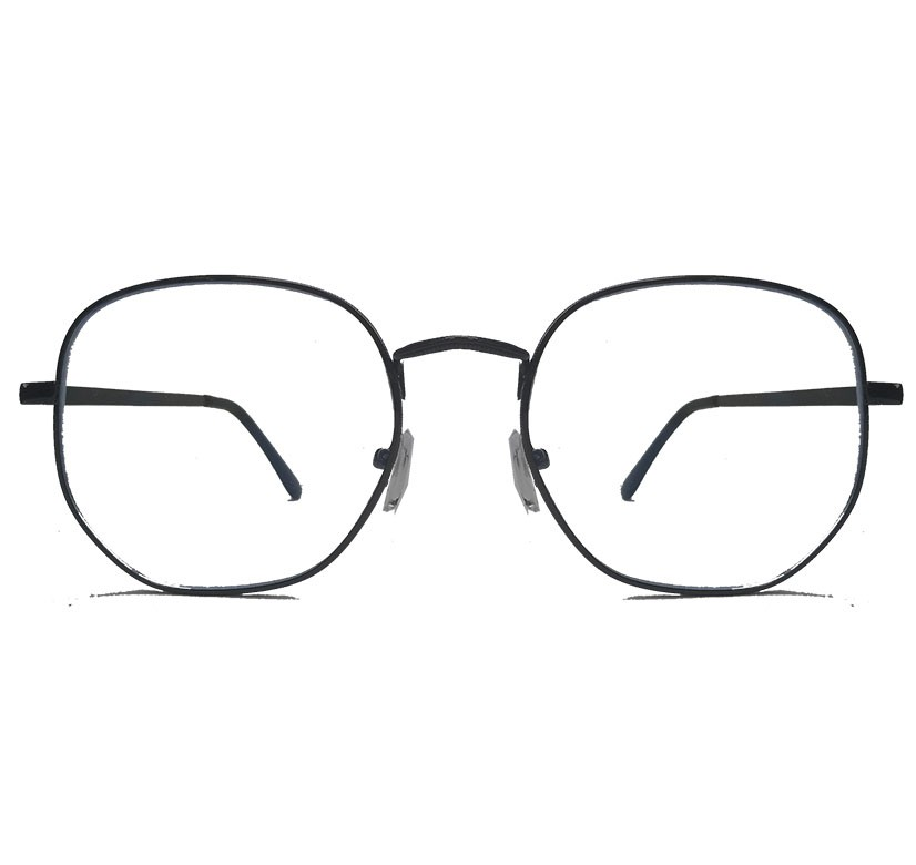 Armação de oculos de grau Redondo Metal Roud 377 Steel Hexagonal Geométrico