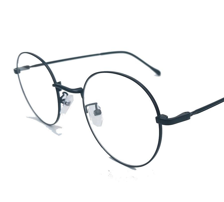 Armação de Óculos de Grau Redondo Retro Juliette Metal 344 Black
