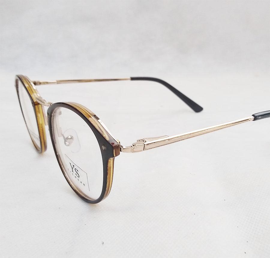 Armação de óculos de grau Redondo Retro Round Brown 2852