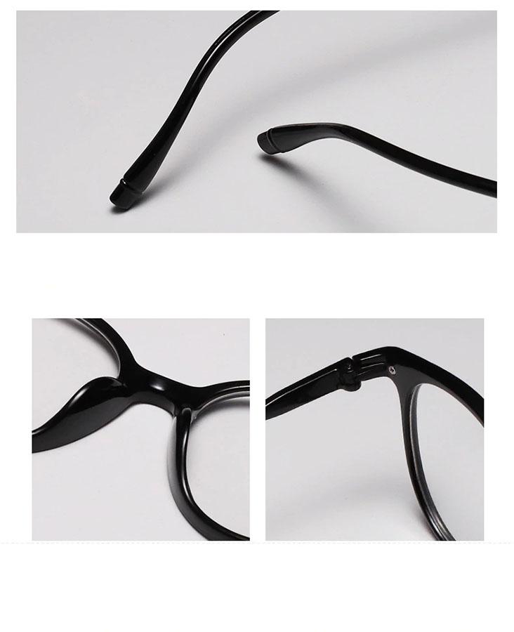 Armação de óculos de grau Redondo Round Black 188 Light Shine