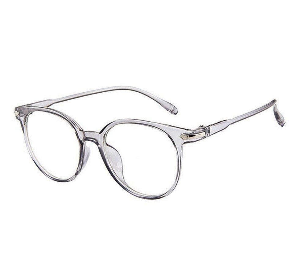 Armação de óculos de grau Redondo Round Cristal188 Light Shine Transparente