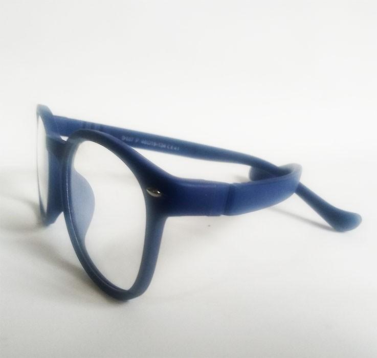 Armação de oculos de grau Redondo Silicone Infantil inquebrável flexível efeito borracha S887