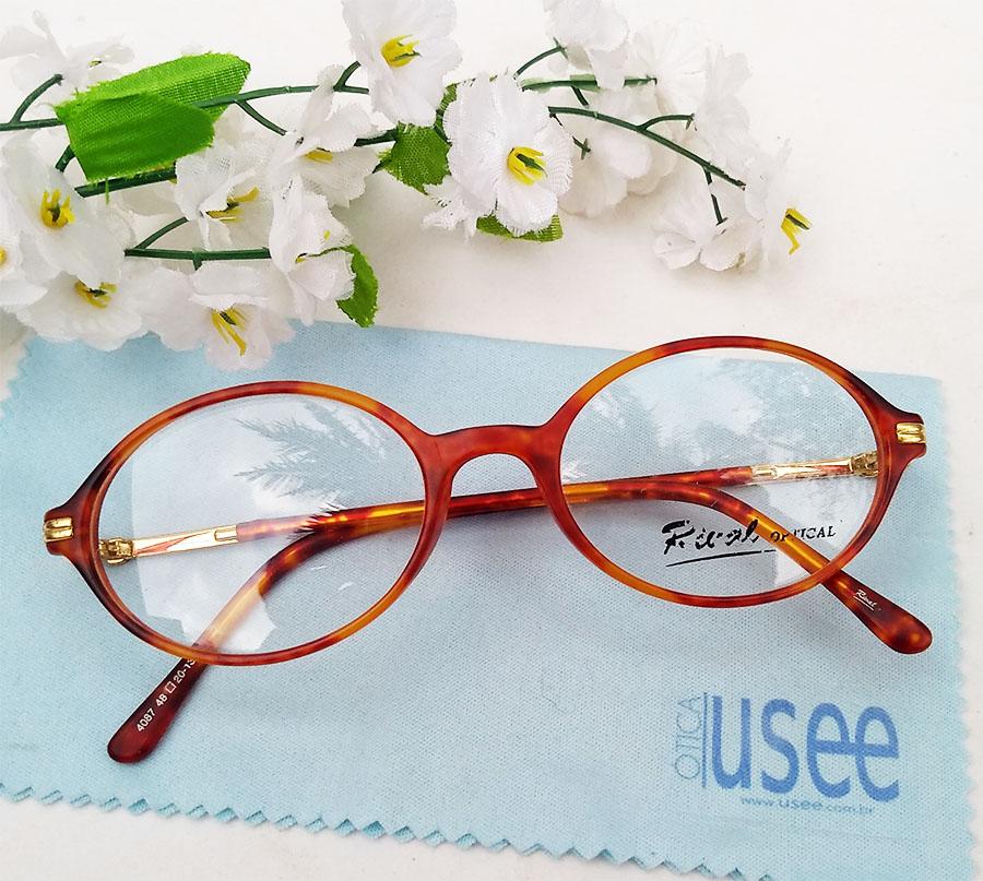 Armação De Óculos De Grau Redondo Tartaruga Retro Vintage 4087 Small