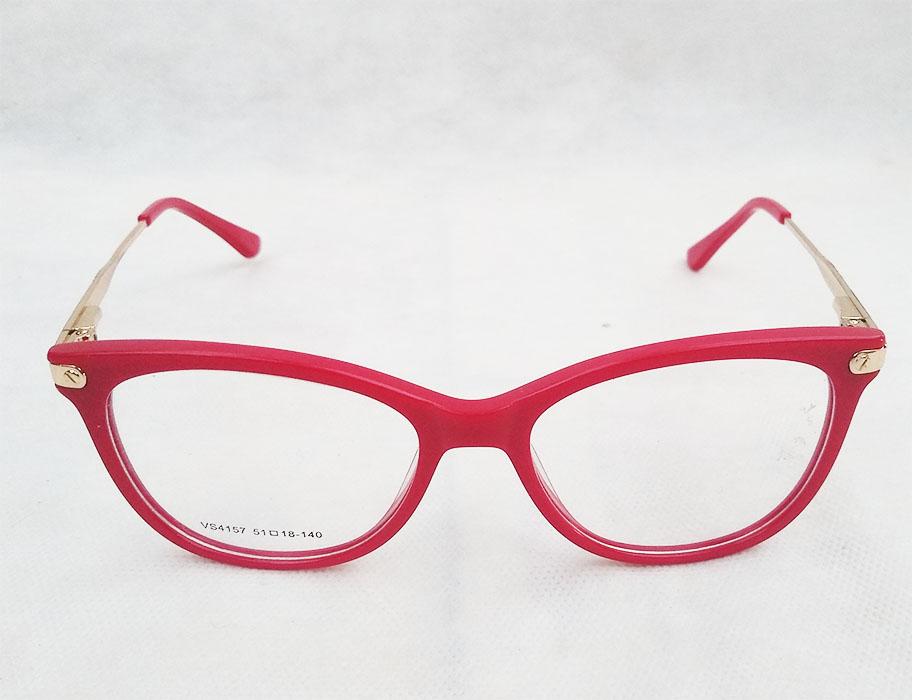 Armação de óculos de grau redondo Vermelho Tulipa 4157 Bella