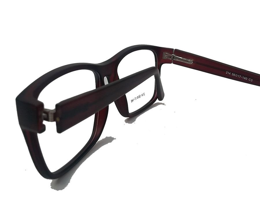 Armação De Óculos De Grau Retangular Classic Brown Justin 214 Ambar