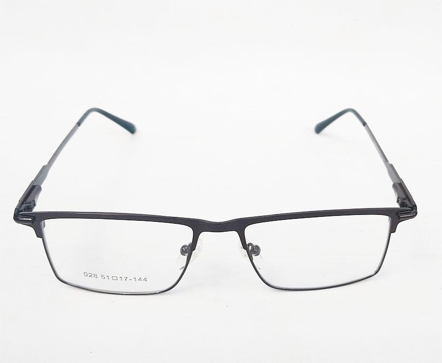Armação de óculos de grau Retangular metal Alumínio Black 6661