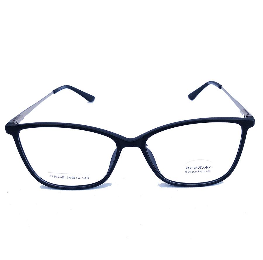 Armação de Óculos de Grau Retangular Oval Bristol 248 Black