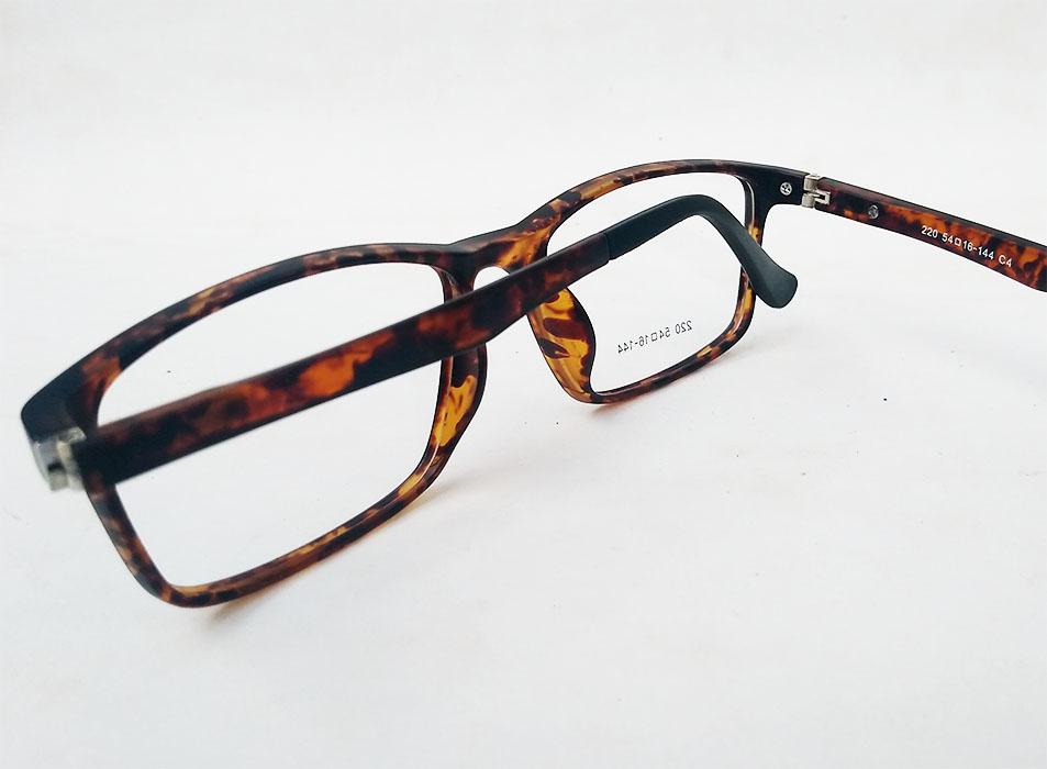 Armação De Óculos De Grau Retangular Tartaruga Marrom Atlantis 220