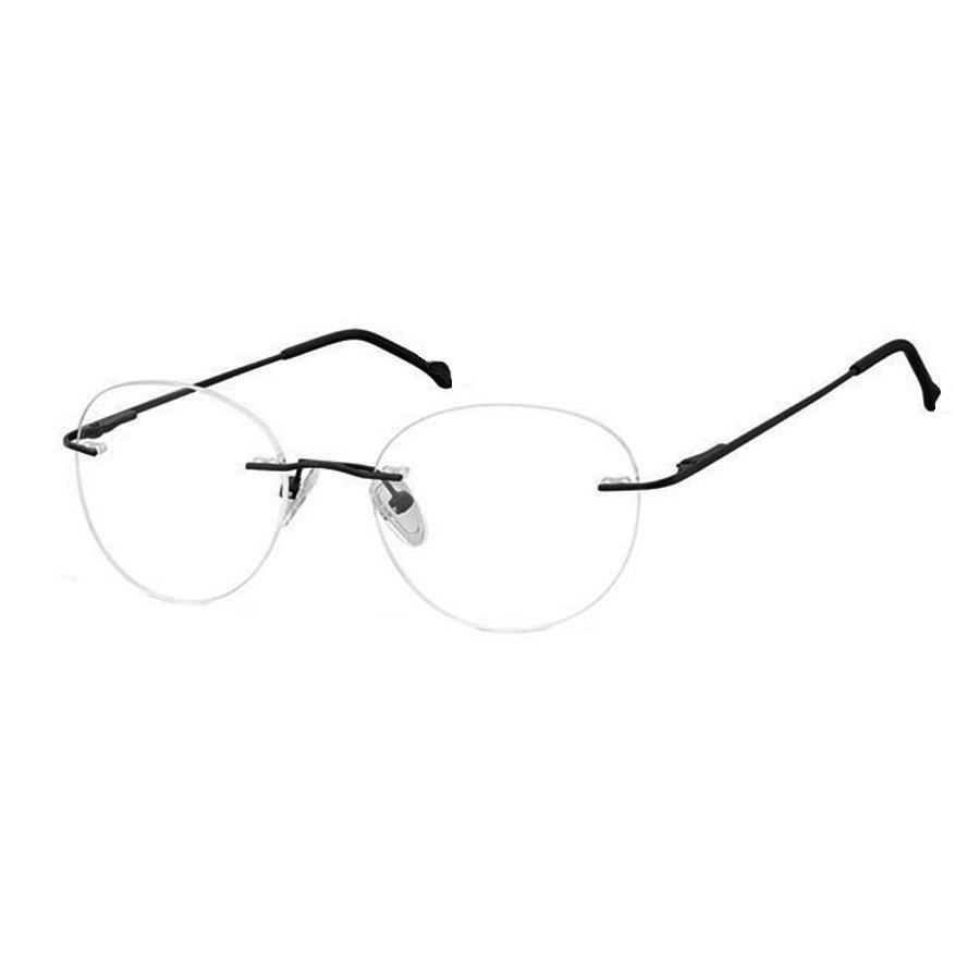 Armação de Óculos de grau sem aro Redondo Balgriff Light Round 550 Office