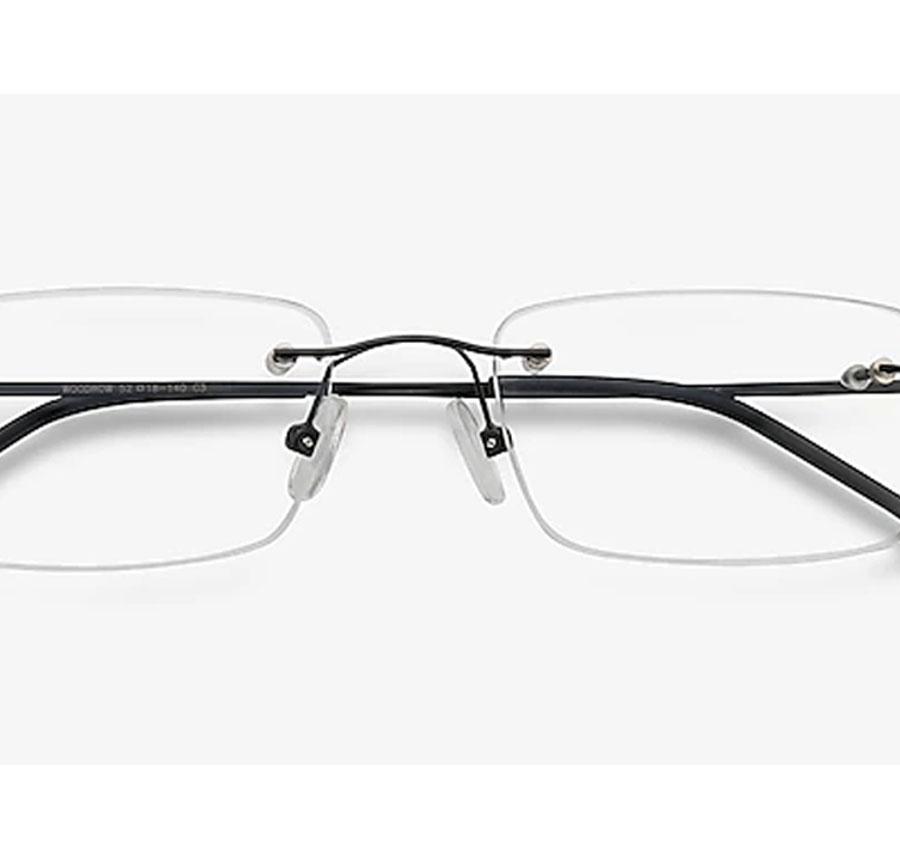 Armação de Óculos de grau sem aro Retangular Balgriff Light 9863