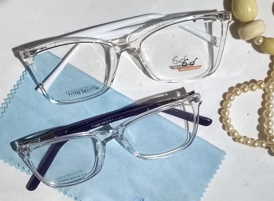 Armação De Óculos De Grau Transparente Infantil Juvenil Magali retangular