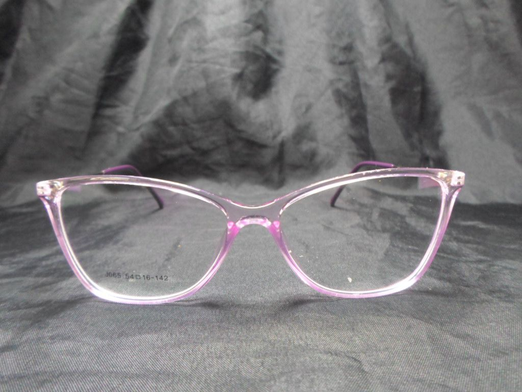 Armação De Óculos De Grau Transparente Roxo Lavanda Gatinho Discreto