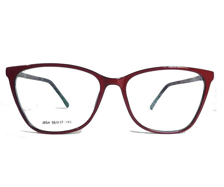 Armação de oculos de grau Vermelho Feminino Confort Leve