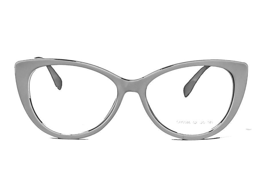 Armação De Óculos Feminino Gatinho Preto Degrade Cristal Luxo Acqua Glass Rubia