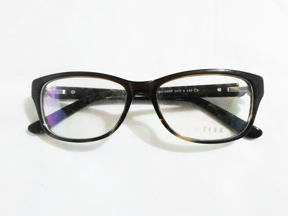 Armação De Oculos Grau Four Acetato Bq1455 Luxo Italy