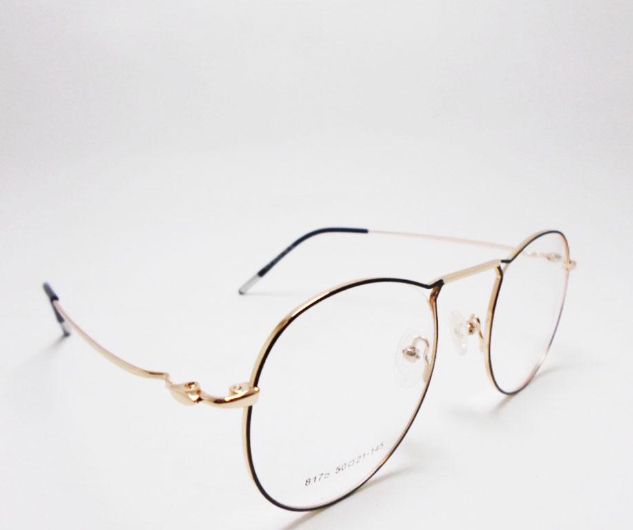 Armação De Oculos grau Redondo 80103 5519 Aviador Style Metal Otello