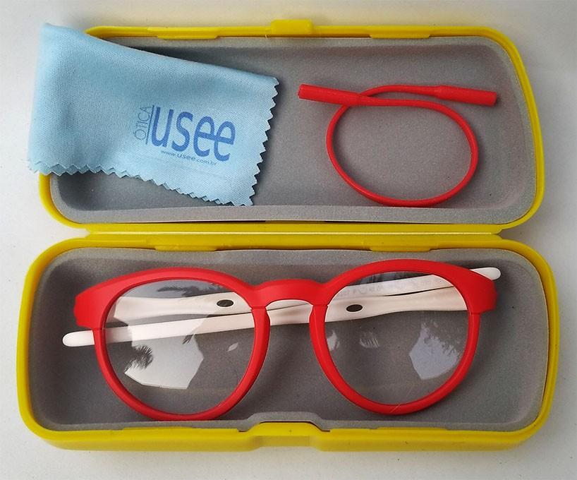 Armação De Óculos Infantil Redondo Silicone Inquebrável anti queda S8207