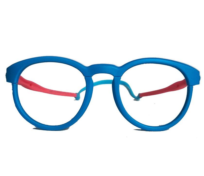 Armação De Óculos Infantil Redondo Silicone Inquebrável anti queda S8702