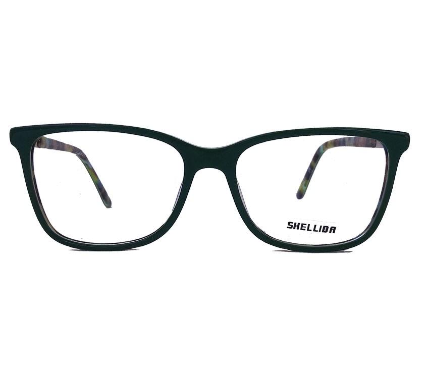 Armação De Óculos para grau Dark Green Verde Emborrachado Retangular
