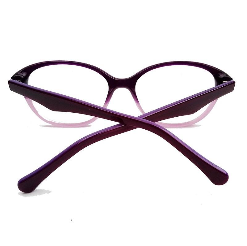 Armação De Óculos Para Grau Degrade Amora Roxo Round 513