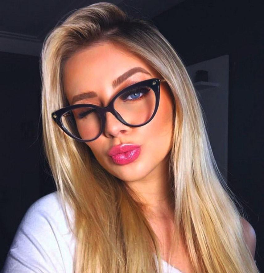 Armação De Óculos Para Grau Feminino Gatinho Luxo Bordo 5570